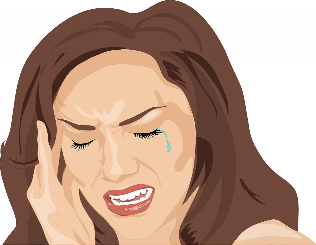 Headache Woman Sad Cry Unhappy  - R_R_Studio / Pixabay