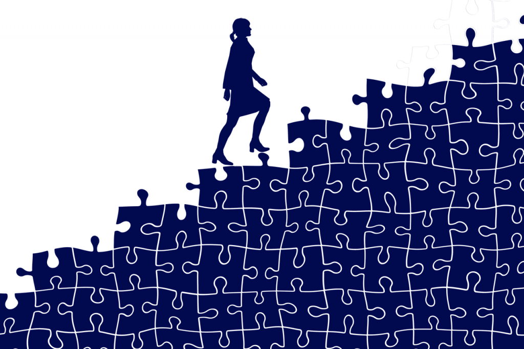 Stairs Puzzle Businesswoman Career  - geralt / Pixabay